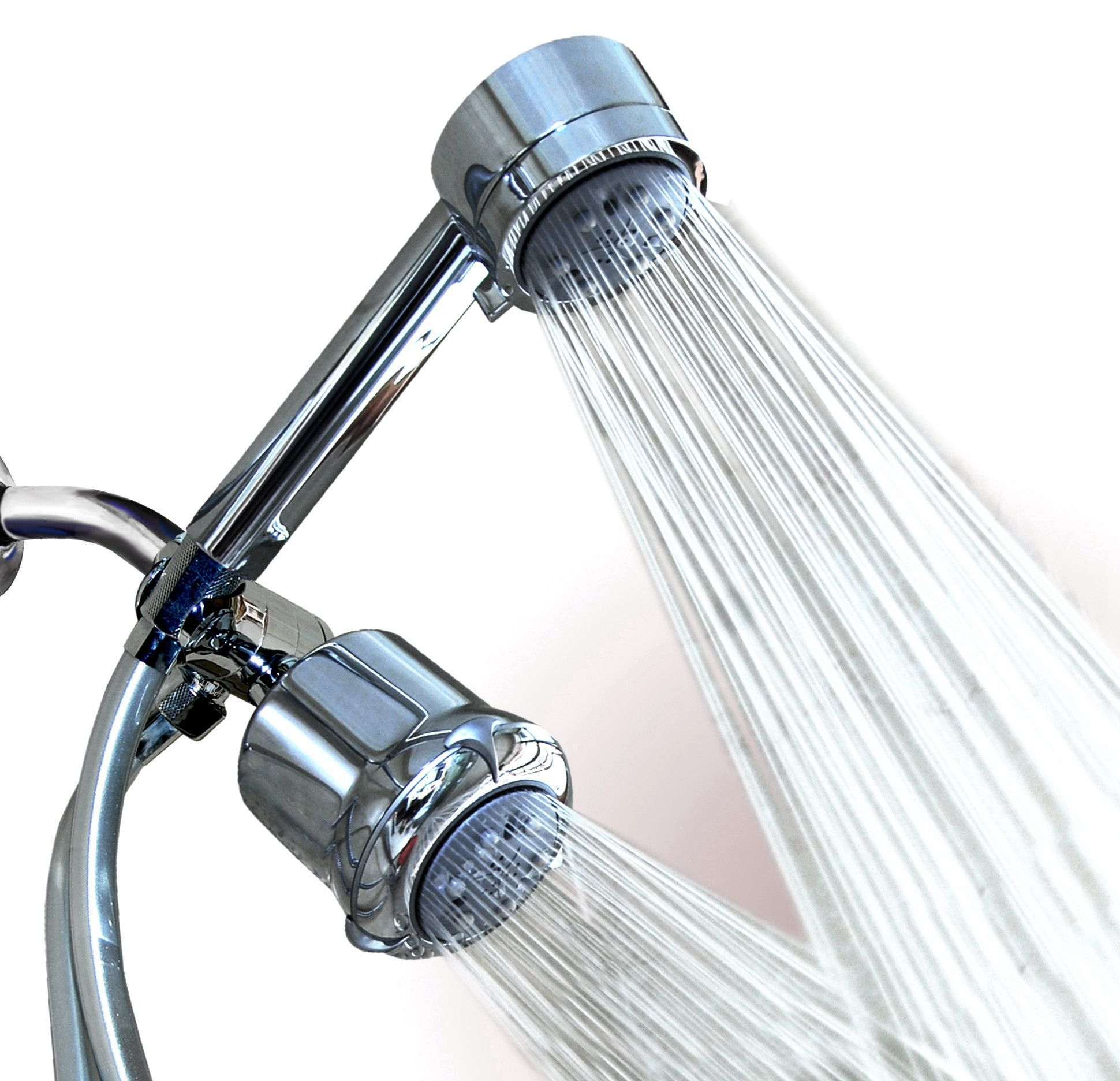 Setting Massage Spa Shower Head Combo With Hose And Handheld - Dual rain shower head with handheld