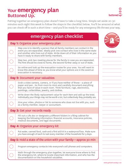 Tool Free Printable Emergency Checklist It Is So Important To Be