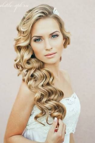Image Result For Backless Dress Hairstyle Hair Styles Wavy Wedding Hair Glamorous Wedding Hair