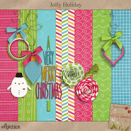 Jolly Holiday mini kit freebie from Etc. by Danyale