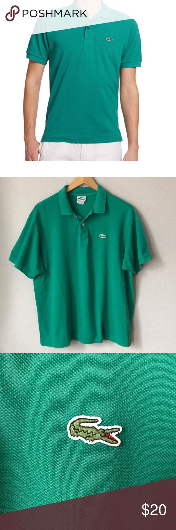 Lacoste Polo Shirt Green Size 7/XL   Lacoste polo shirts, Lacoste ...