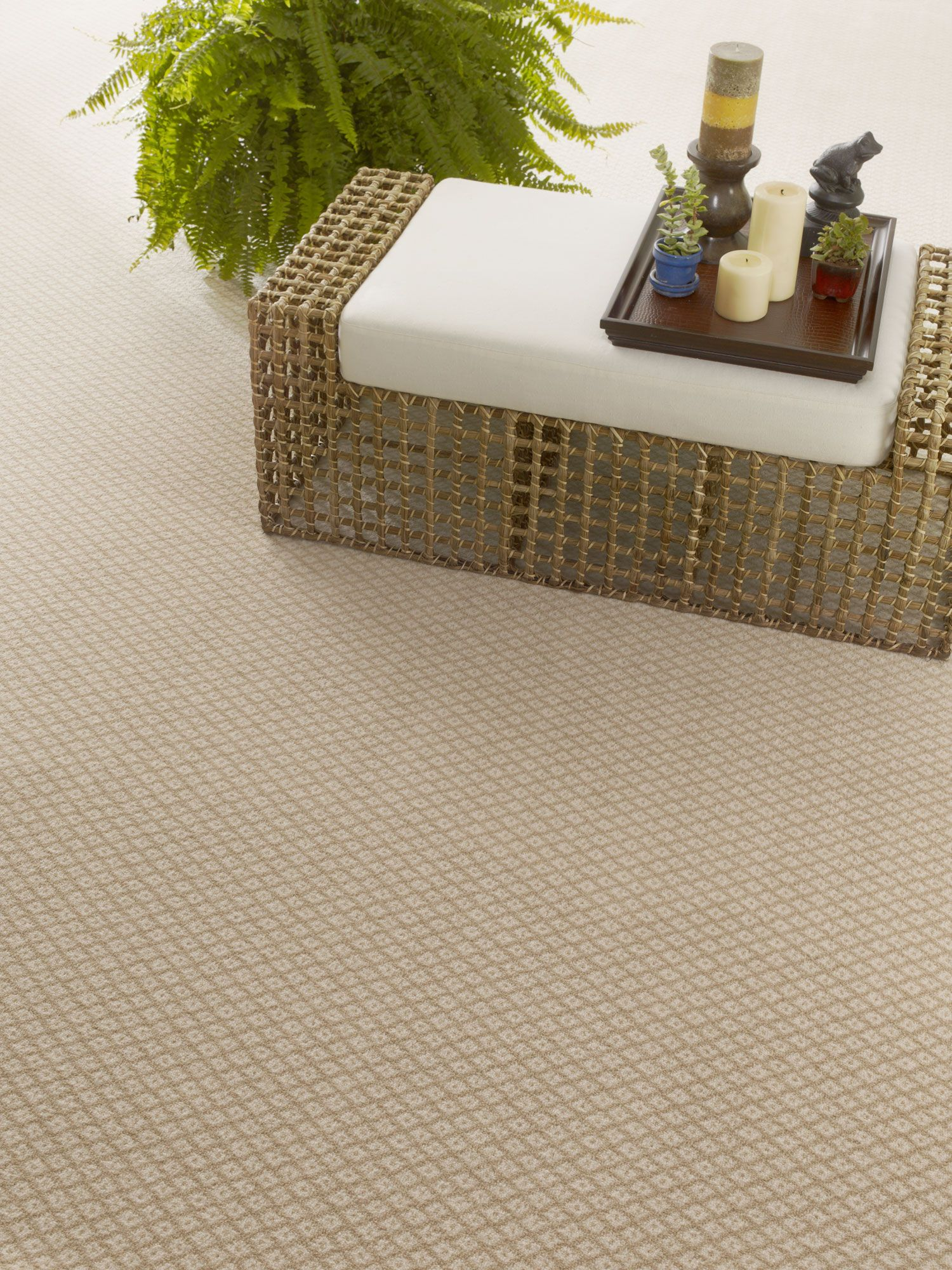 Simple Dotted Diamond Patterned Carpet Flooring Accents