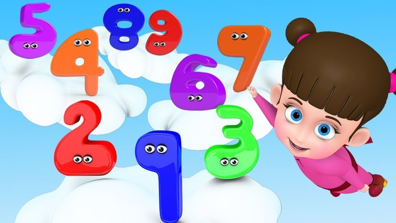 Numbers Song For Children Learn To Count Numbers For Kids Super Baby F Kids Nursery Rhymes Kids Songs Numbers For Kids
