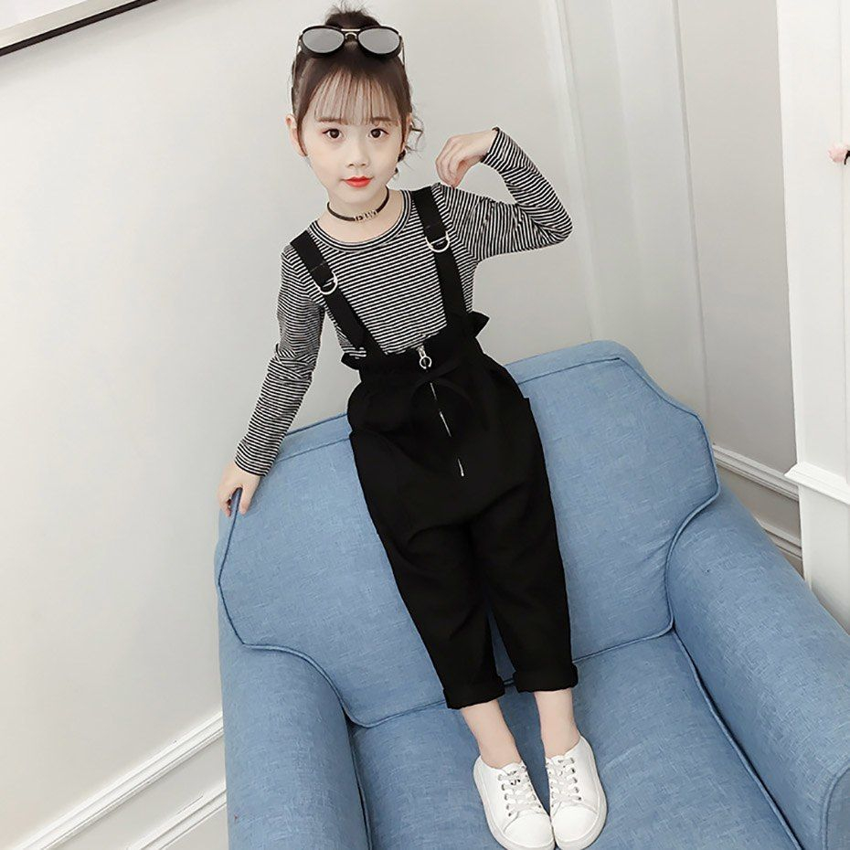 Spring Clothes Set For Girls 2019 Kids Clothes Suit Striped