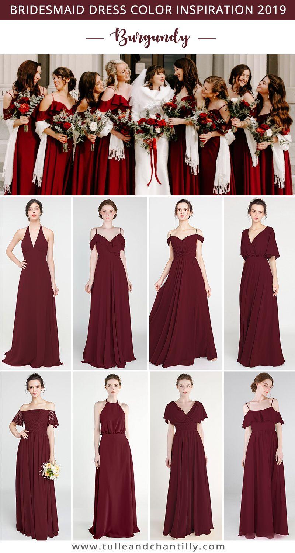 Long Short Bridesmaid Dresses 79 149 Size 0 30 And 50 Colors Burgundy Bridesmaid Dresses Burgandy Bridesmaids Dress Bridesmaid Dresses