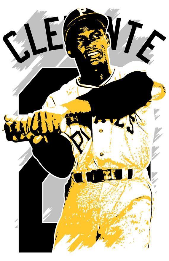 Photo of ROBERTO CLEMENTE art print Pittsburgh Pirates