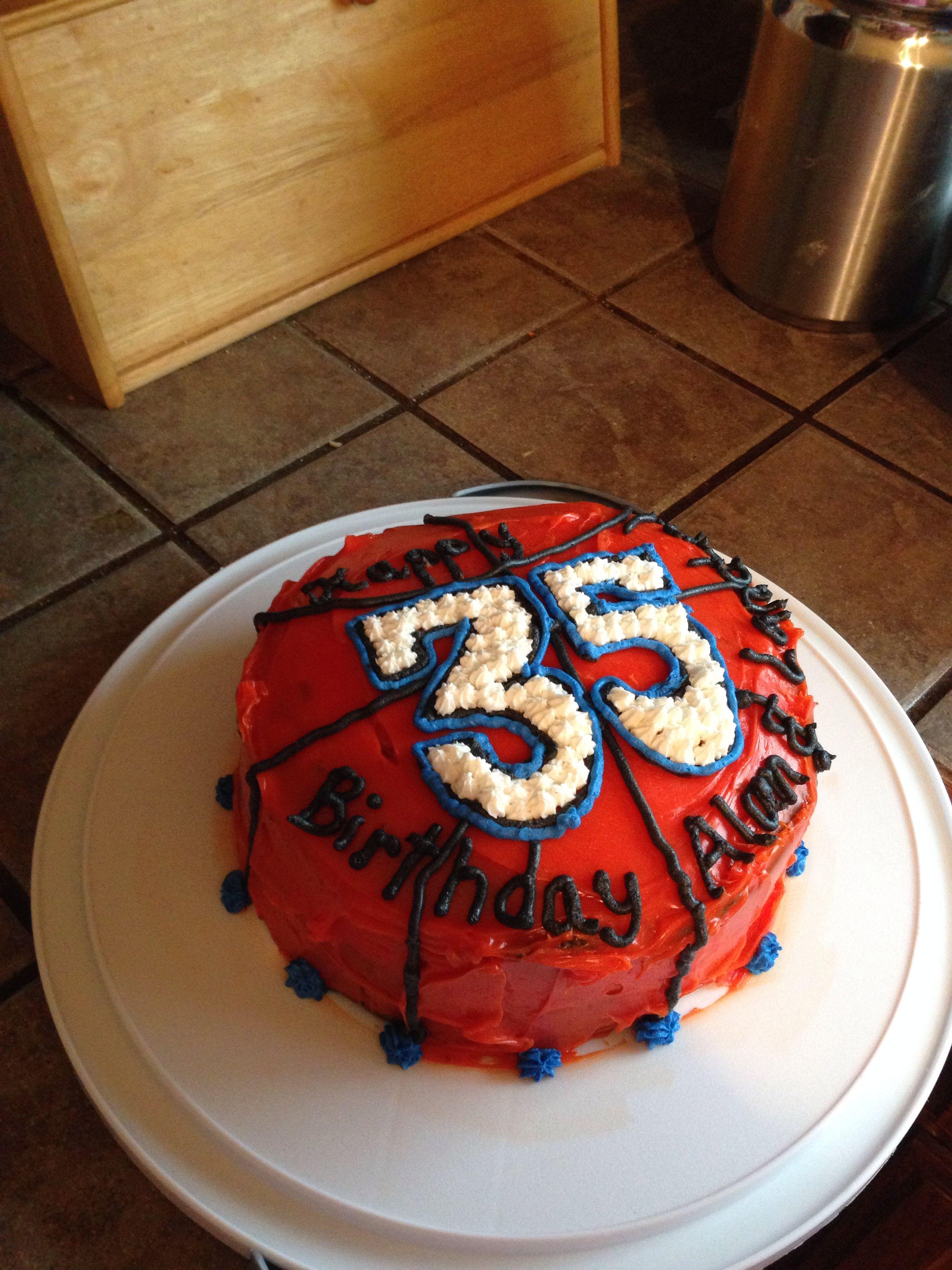 Basketball Cake For My Husband S 35th Birthday Basketball Cake