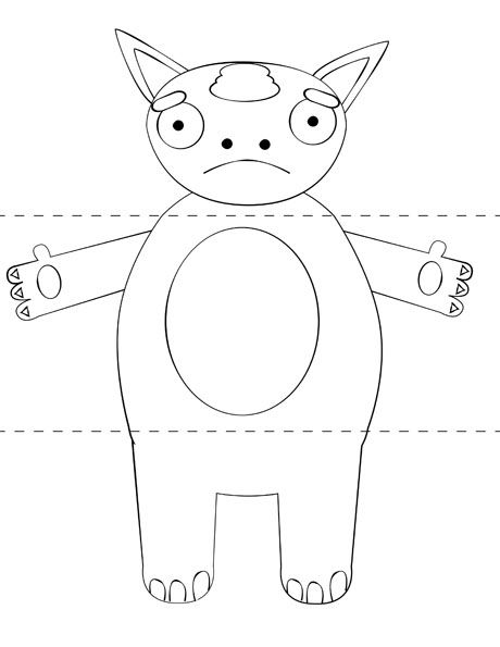 printable kid craftmake your own monster from print cut paste craft - Monster Pictures For Kids To Print