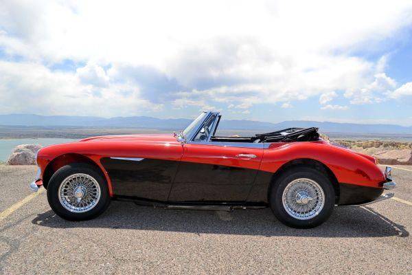 Beautiful Red Over Black 1966 Austin Healey 3000 Mark Iii Bj8