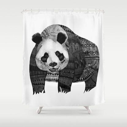 Native Youth Panda Shower Curtain Curtains Shower Nativity