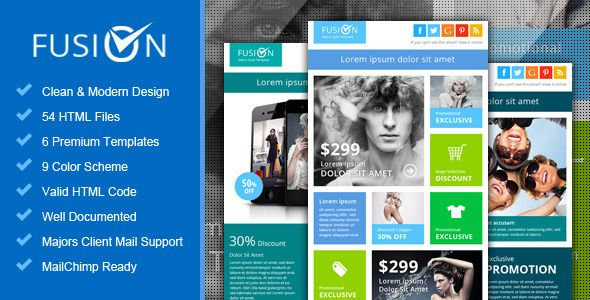 Fusion Metro Email Newsletter Template Newsletter Templates - Promotional mailer template