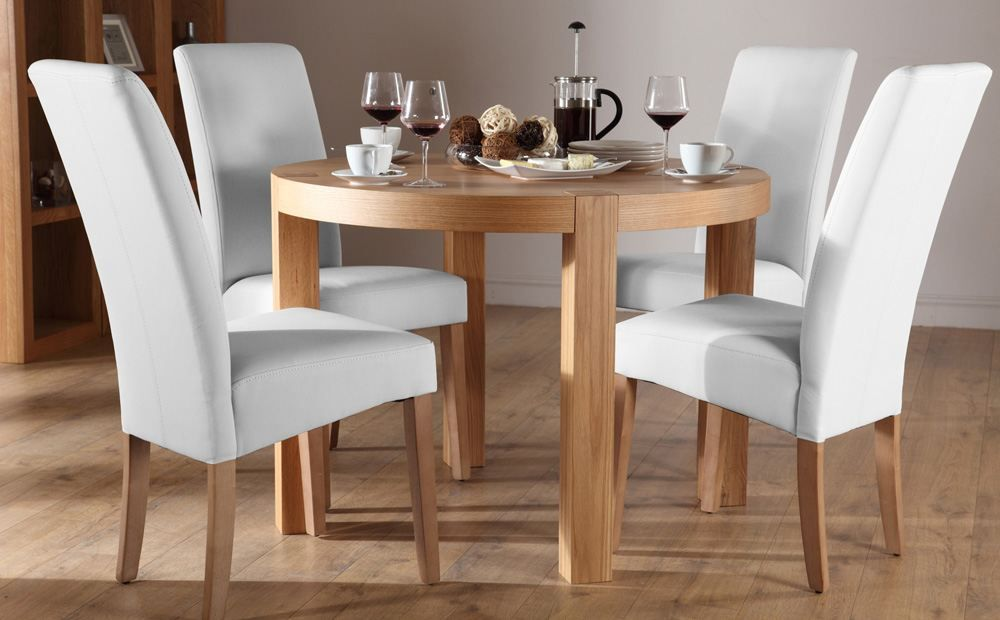 York Round Oak Dining Table And 4 Chairs Set Boston Ivory Stunning Dining Room Table And Chairs Ebay Inspiration