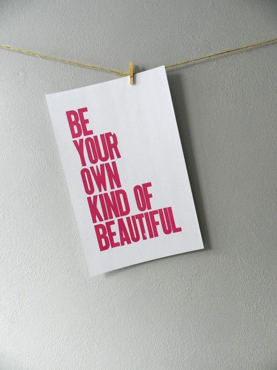 Pink Letterpress Poster Room Decor For Children S Wall Art Be Your Own Kind Of Beautiful Print Letters