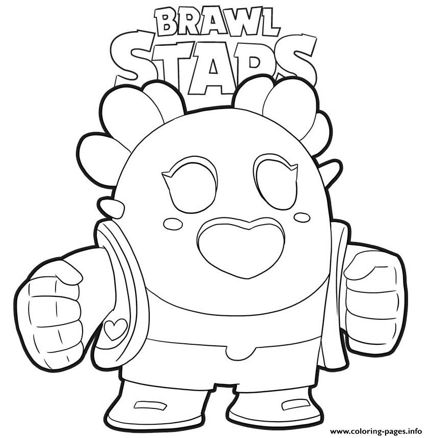 Sakura Spike Brawl Stars Coloring Pages Printable Star Coloring Pages Coloring Pages Cute Coloring Pages