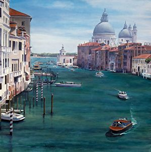 Grand Canal - Venice by Jim Smither in the FASO Daily Art Show