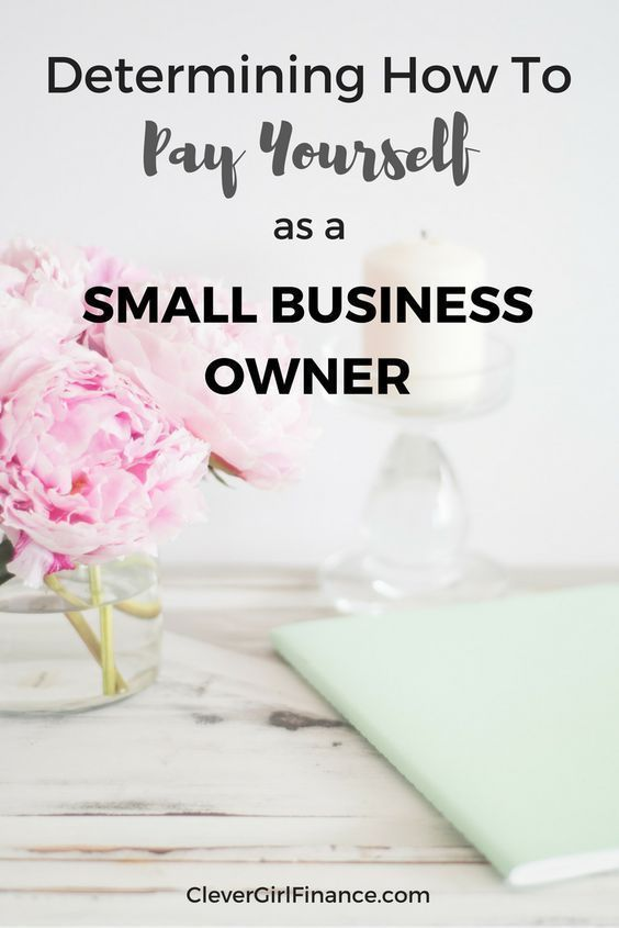 As a small business owner one of your biggest concerns may be how to pay yourse