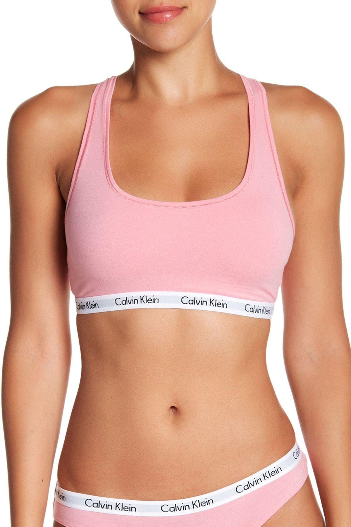 ee1c3bd853cfe Pink Calvin Klein bralette