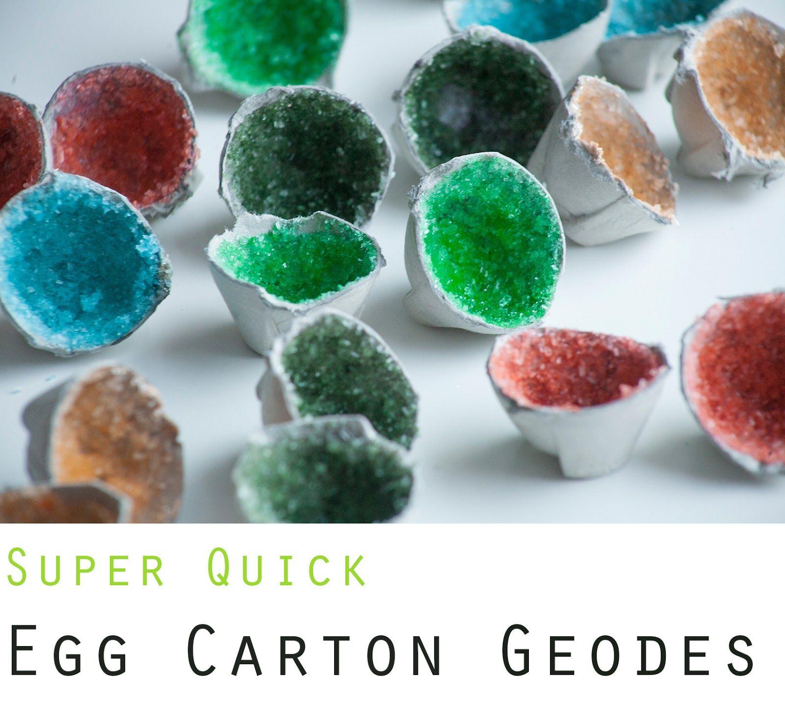 Quick Egg Carton Geodes