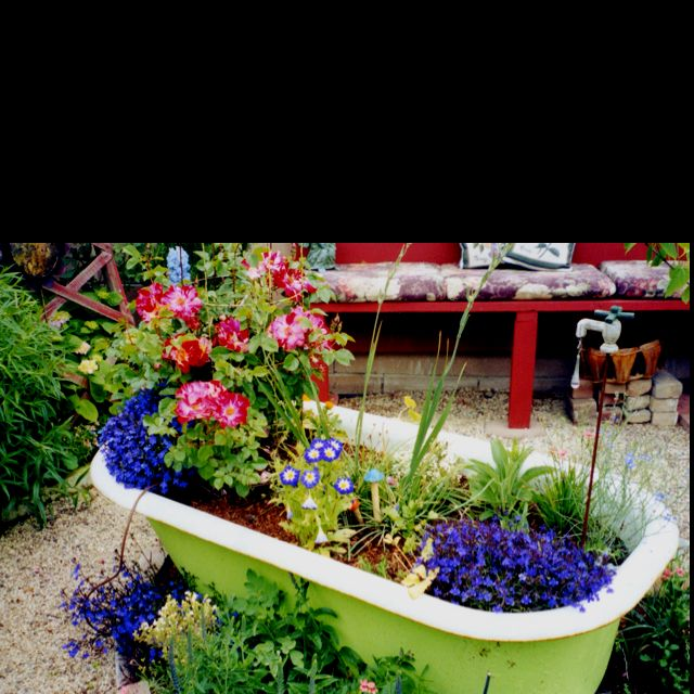 Bath tub garden | Garden bathtub, Backyard garden, Garden