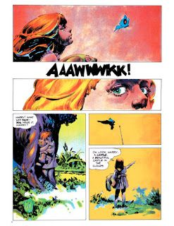 """""""Henry"""" page 2: Art by Jeffrey Catherine Jones, colors by Richard Corben (Vampirella #32, 1974) - Dal post:The Studio Section Four /8"""