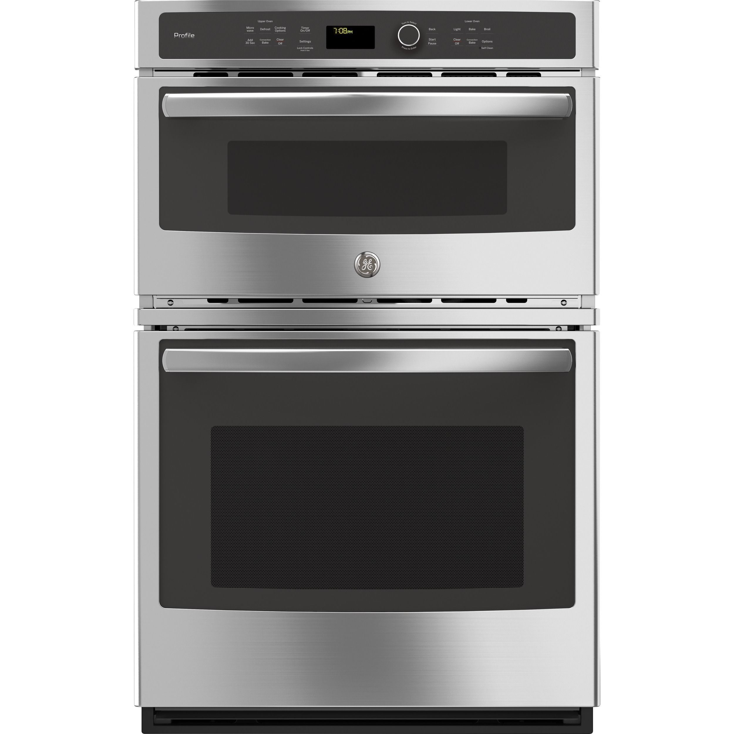 Ge Profile Series Stainless Steel Silver 27 Inch Built In Combination Convection