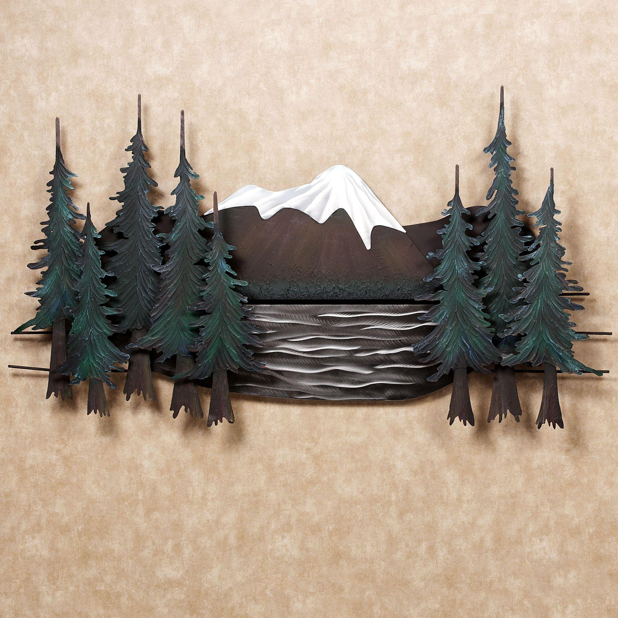 Mountain Lake Metal Wall Sculpture Metal Wall Sculpture Mountain Lake Wall Sculptures
