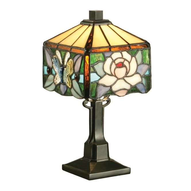 A Collection Of Smaller Miniature Size Tiffany Lamps In A Choice