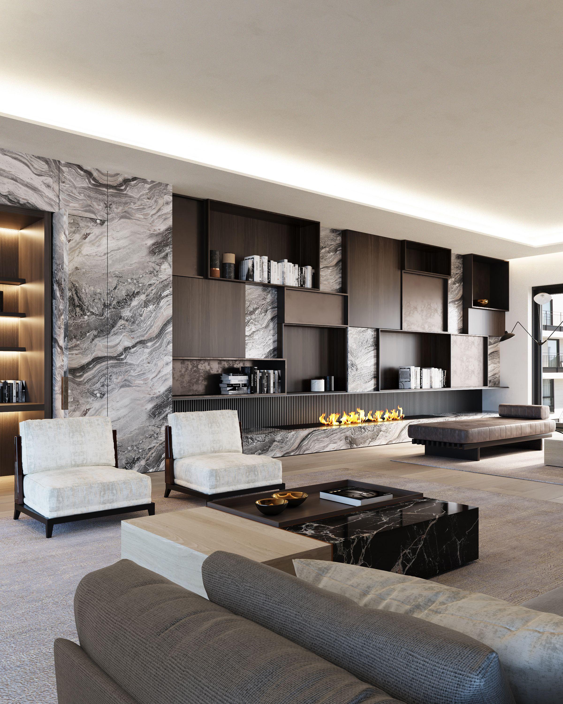 Chambon Penthouse Living Room Design Modern Modern Houses