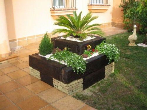 Decoracion y dise o en jardineras de ladrillos jard - Jardineras de interior ...