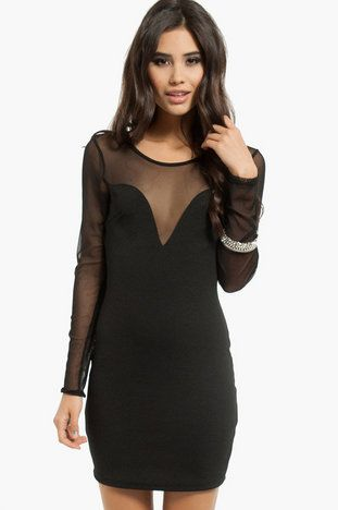 f34953837a49 For my work holiday party!! Night Out Contrast Dress $44 at www.tobi.com