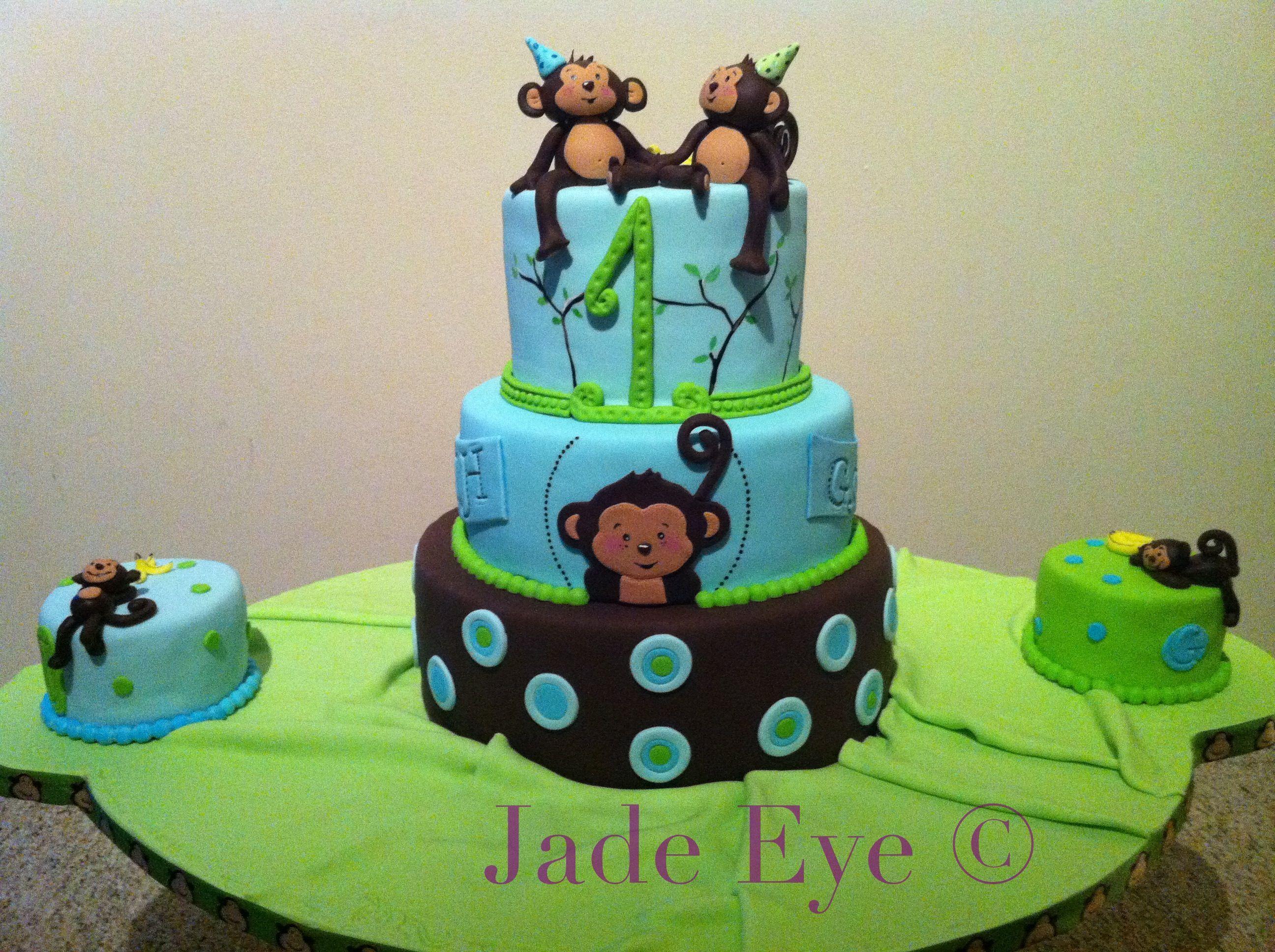 Monkey birthday cake for twins Boys birthday ideas Pinterest