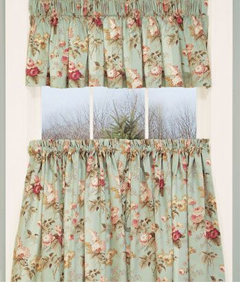 laurau0027s garden floral tier curtains these look very similar to the ones in my kitchen - Tier Curtains