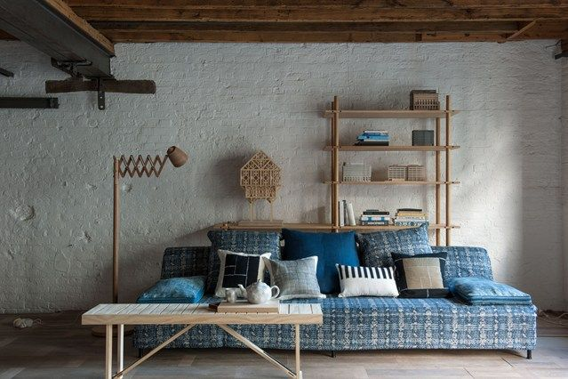 Japanese Inspired Wood & Blue   Living rooms, Room and House
