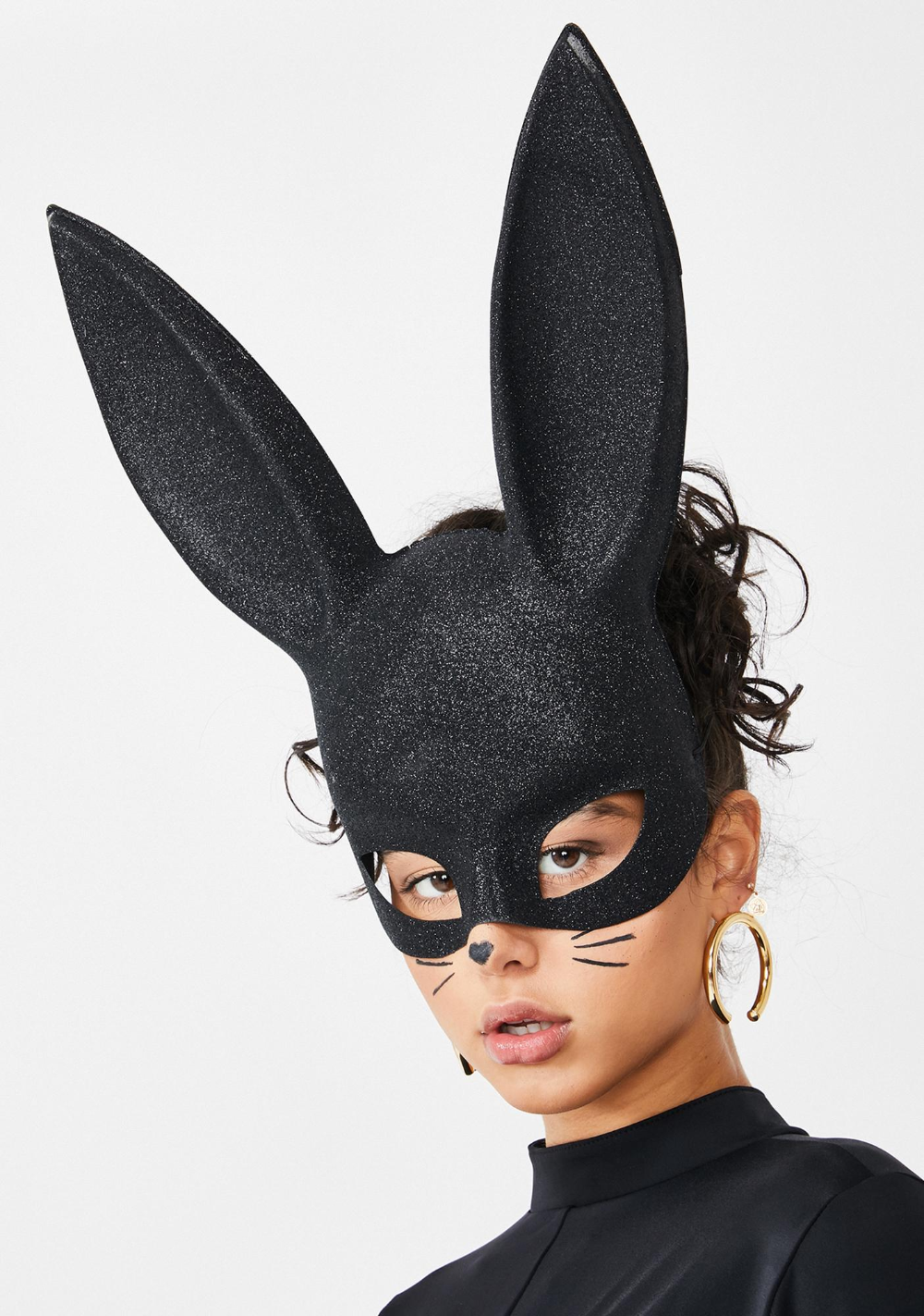 Black Glitter Bunny Mask Dolls Kill (With images