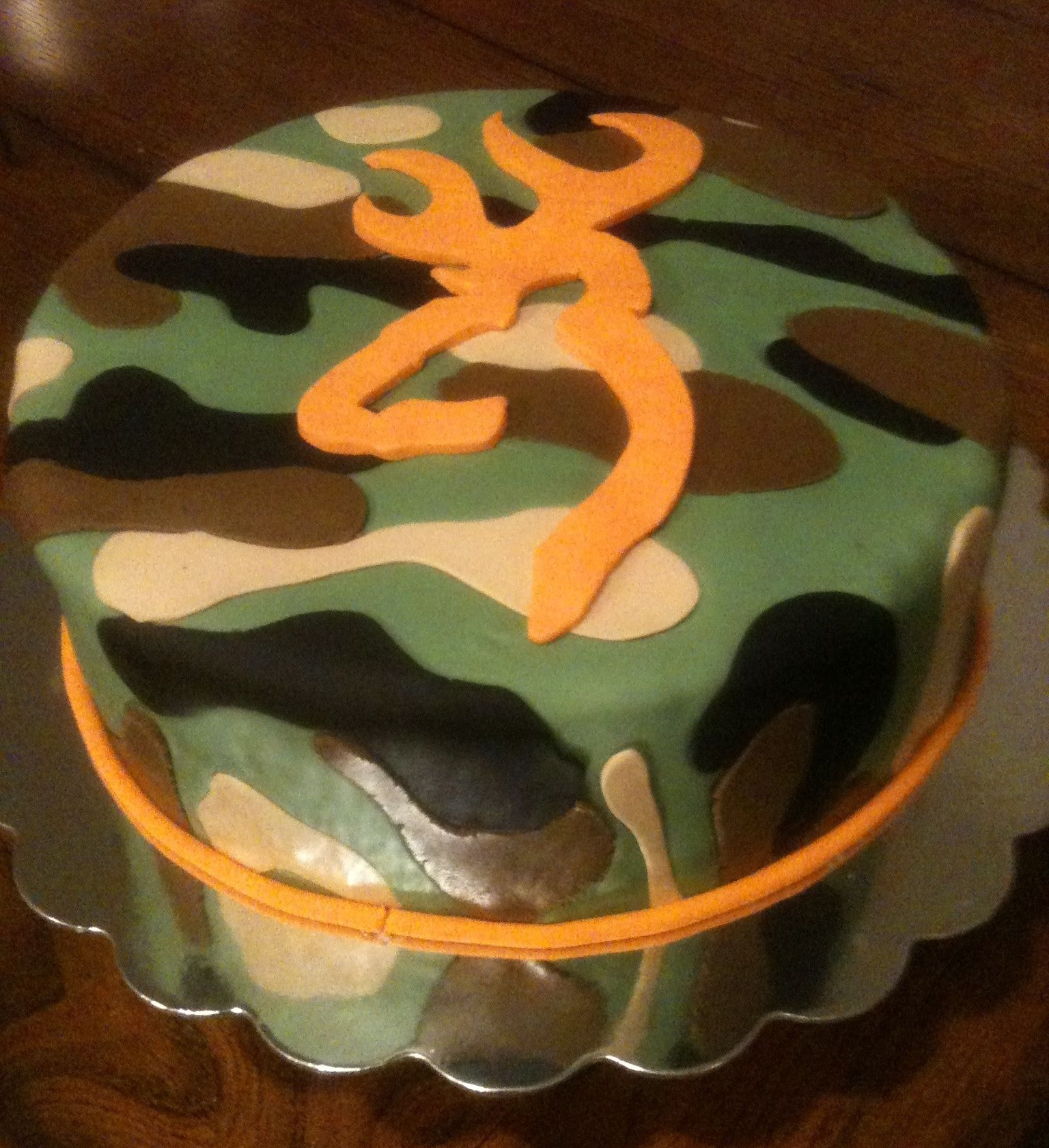 Camo browning cake camouflage cake with browning symbol cakes camo browning cake camouflage cake with browning symbol biocorpaavc Images