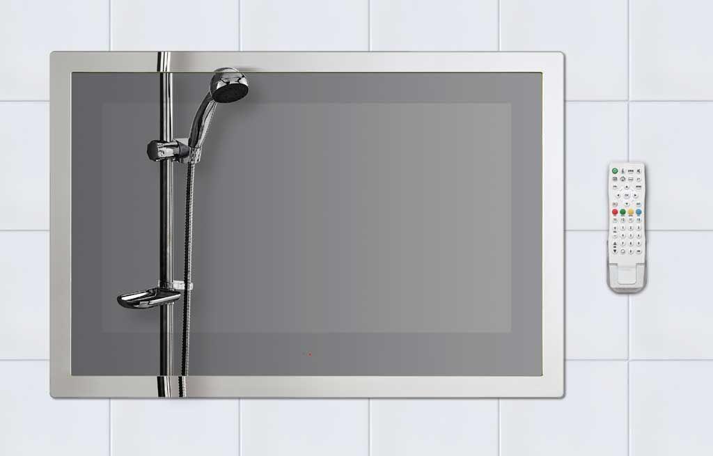 Mirrored Waterproof Bathroom Tv Tv In Bathroom Ideal Bathrooms Waterproof Tv