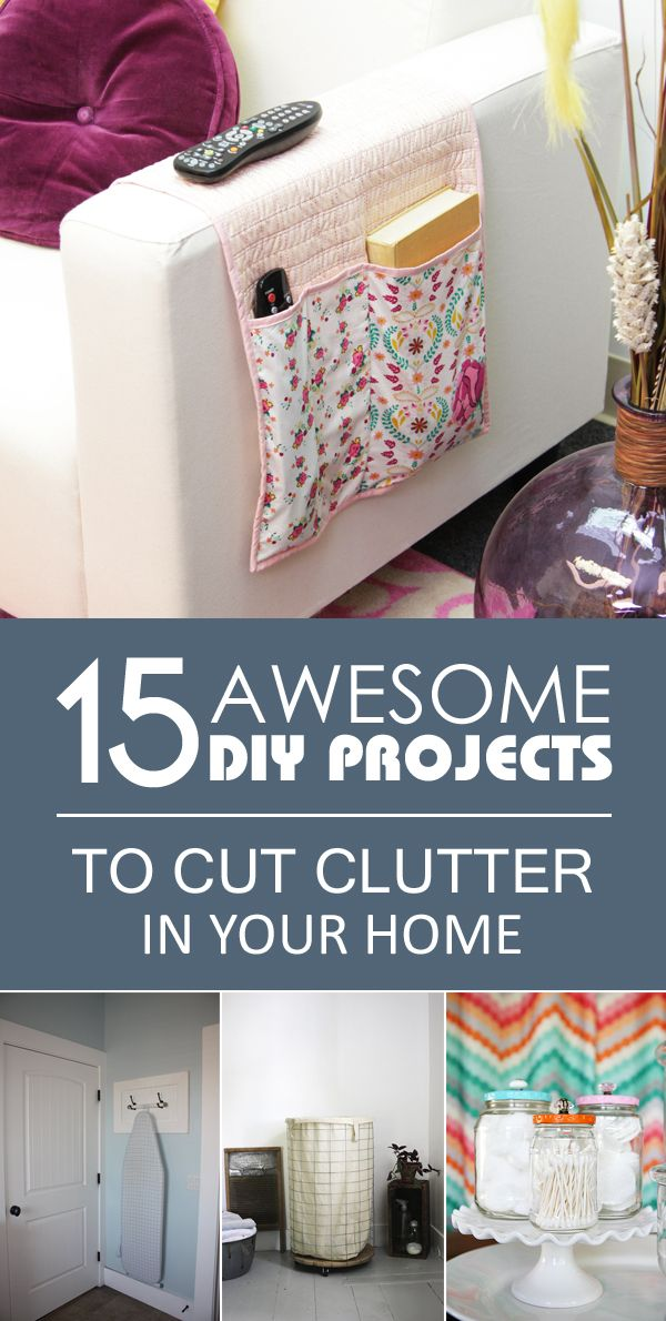 Simple solutions that will help you cut clutter to a minimum by utilizing the space you have.