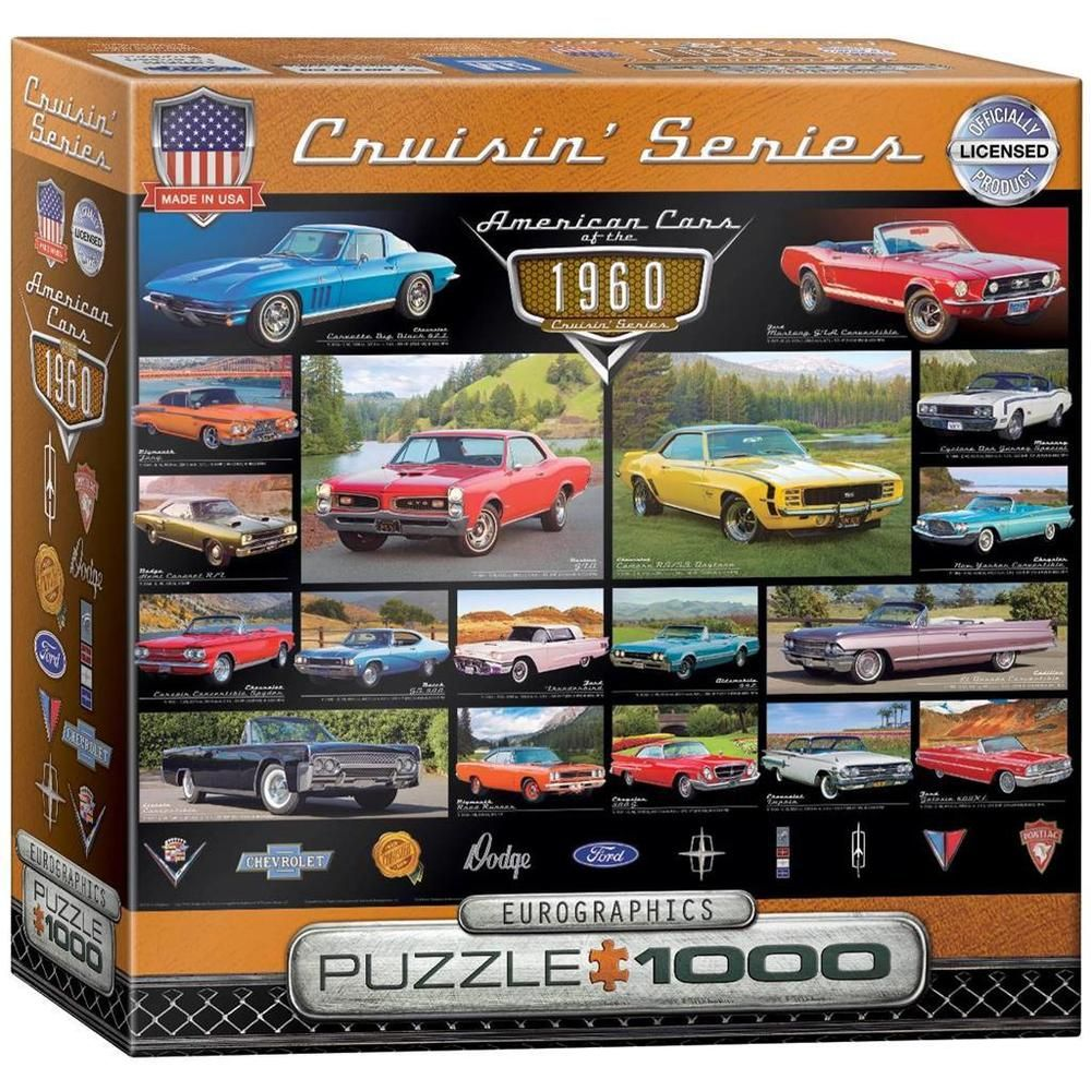 jigsaw puzzle 1000 piece eurographics american cars of the 1960 u0027s