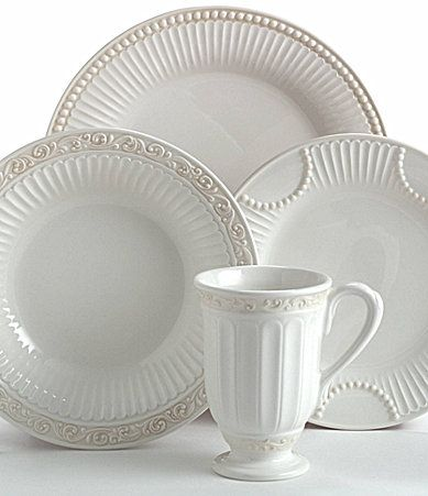 Everyday dishes - mix of patterns from Lenox Butlers Pantry & Everyday dishes - mix of patterns from Lenox Butlers Pantry ...