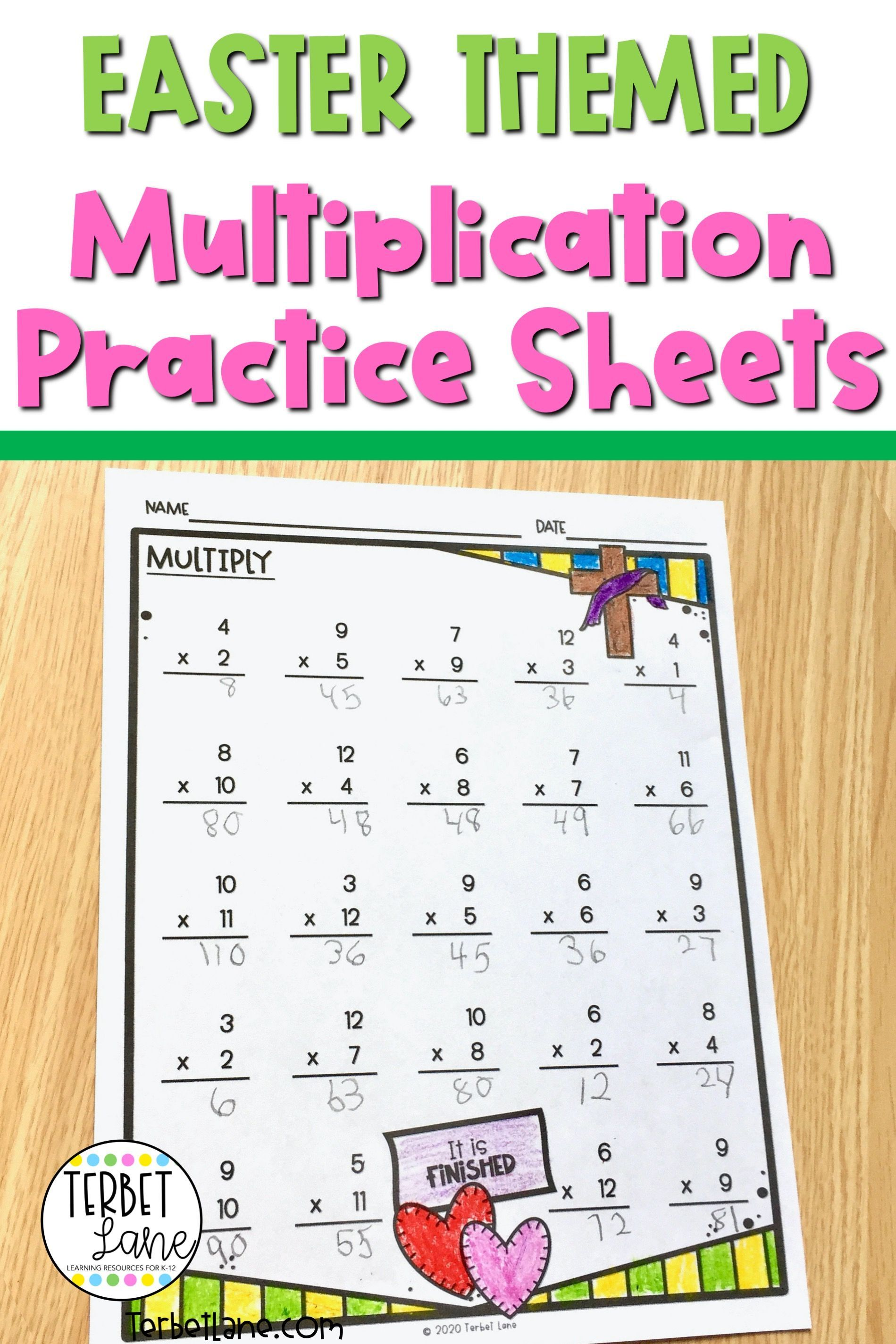 Easter Multiplication Worksheets In