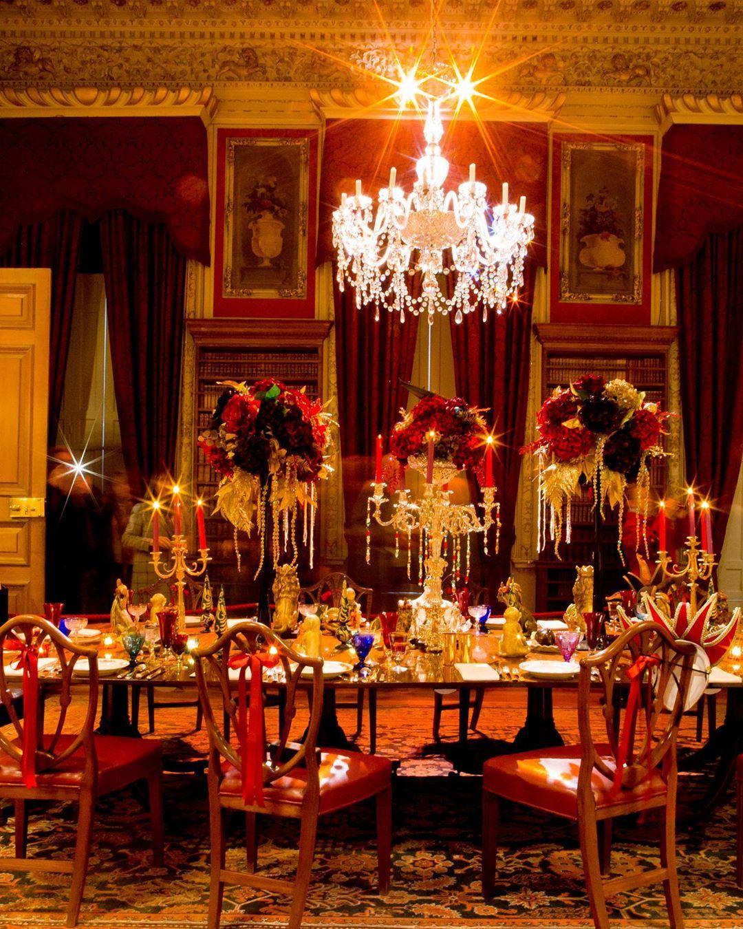 "Castle Howard on Instagram ""The Crimson Dining Room set"