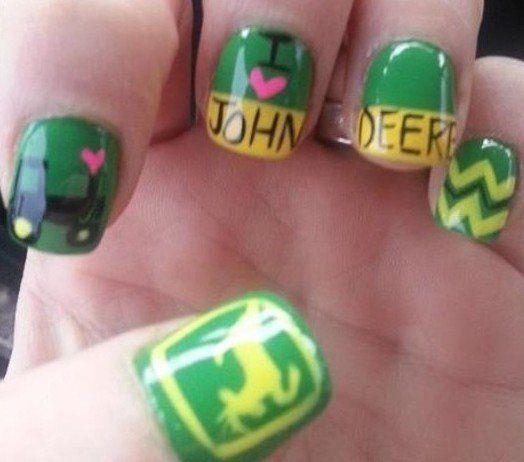 John Deere Nails John Deere Pinterest