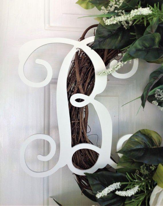 Photo of Magnolienkranz, Alltagskranz für die Haustür, personalisierter Kranz, Willkommenskranz für die Haustür, Bauernkranz für die Haustür