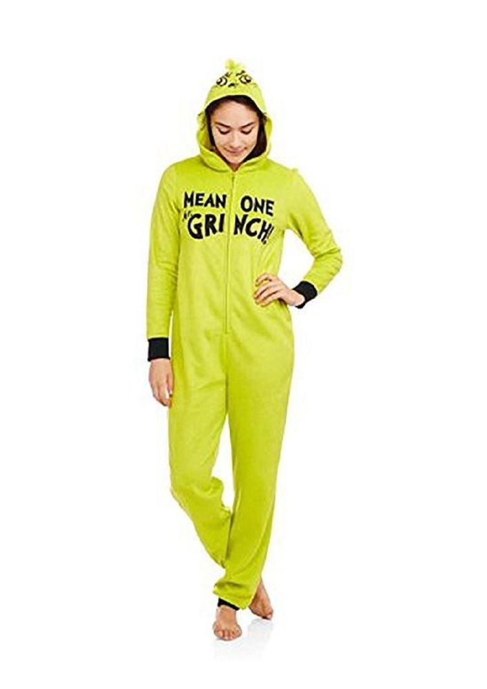 Seuss The Grinch Womens Fleece Dont be A Grinch Pajama Set Dr