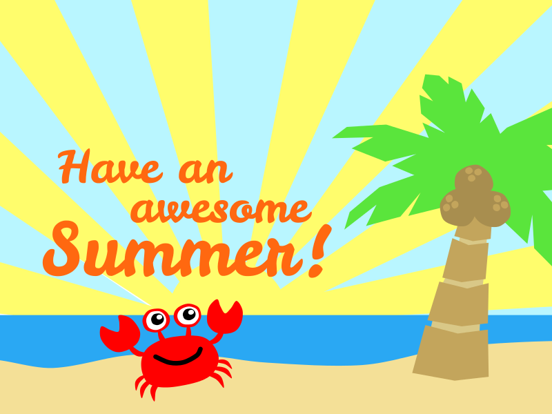 Have an Awesome Summer! | Clip art, Free clip art, Summer theme