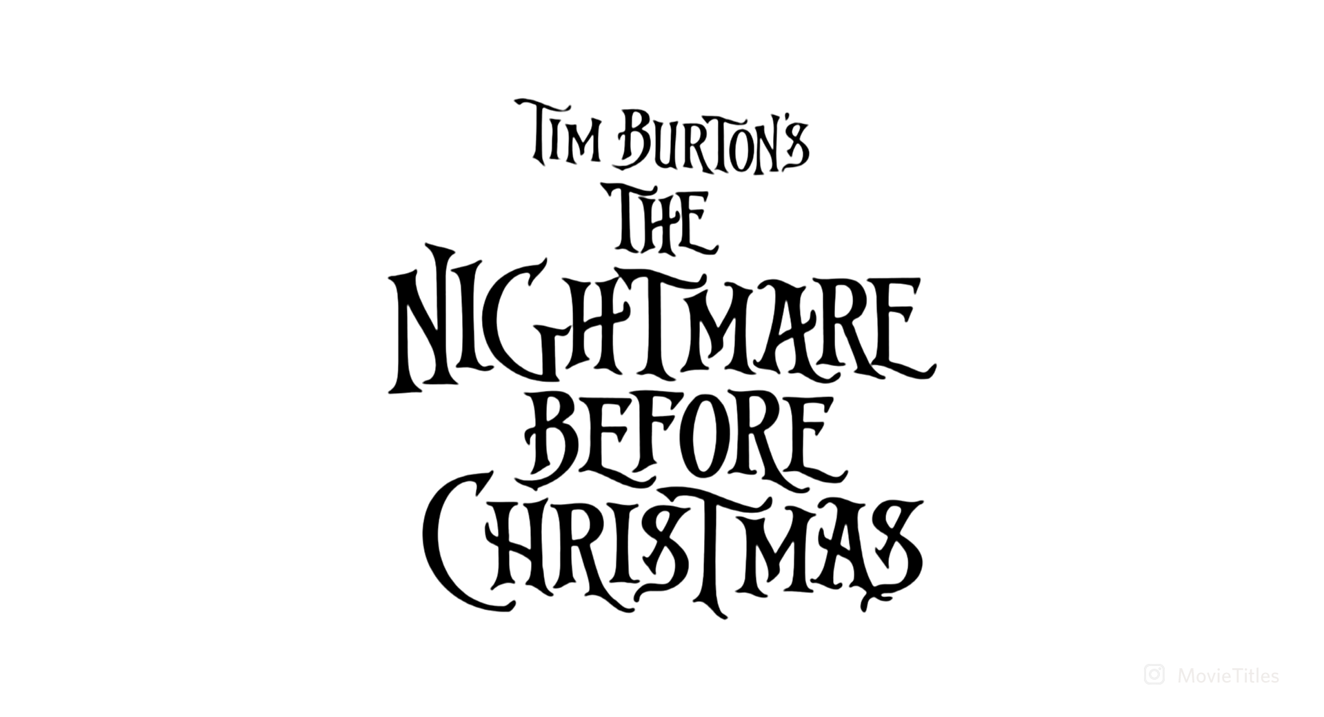 The Nightmare Before Christmas Movie Title