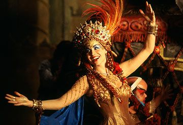 The Phantom of the Opera, with Minnie Driver as Carlotta in the Hannibal Costume. #CostumeDesign: Alexandra Byrne