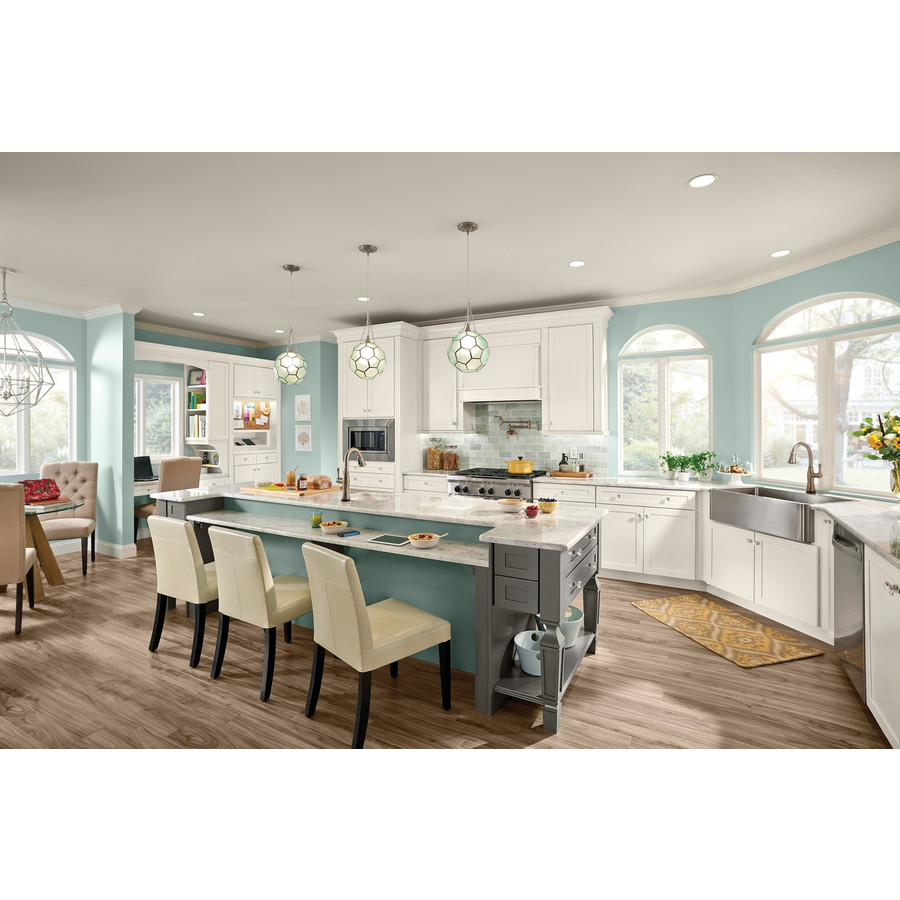 KraftMaid Deveron 15-in x 15-in Dove White Painted Maple ...