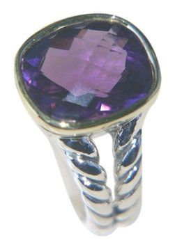 David Yurman Noblesse Ring Amethyst 18K Gold and Silver Ring. Get the lowest price on David Yurman Noblesse Ring Amethyst 18K Gold and Silver Ring and other fabulous designer clothing and accessories! Shop Tradesy now