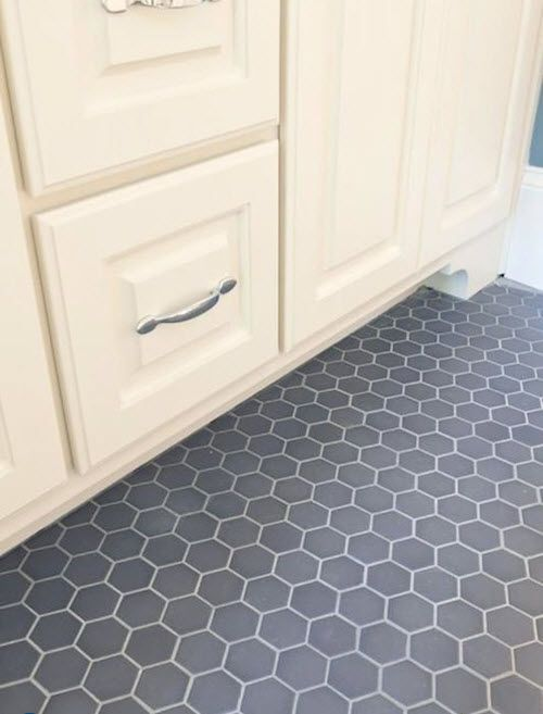 39 Dark Grey Bathroom Floor Tiles Ideas And Pictures Hexagon Tile Bathroom Floor Grey Bathroom Floor Hex Tiles Bathroom